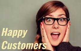 خوشحالی و احترام به مشتری مشتری خوشحال
