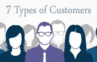 7 types of customers نوع مشتری