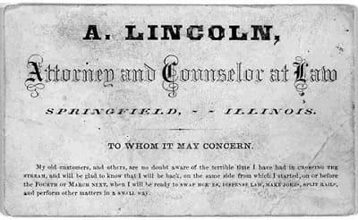 کارت ویزیت لینکلن