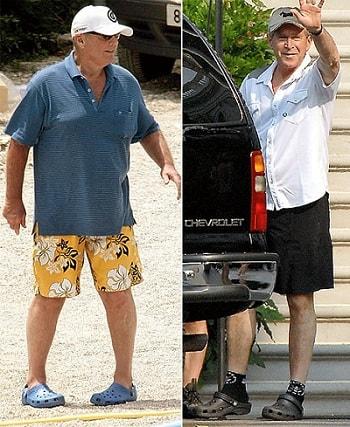 کفش کروکس crocs جرج بوش Bush