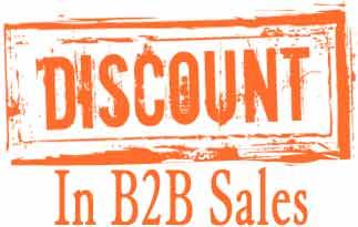 Discounting B2B Sales تخفیف فروش بازار شرکتی