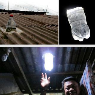 خلاقیت در کاهش مصرف برق - ساخت لامپ خورشیدی