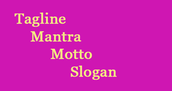 تفاوت معنی Tagline Mantra Motto Slogan برند مانترا برند اسلوگان اسلوگن