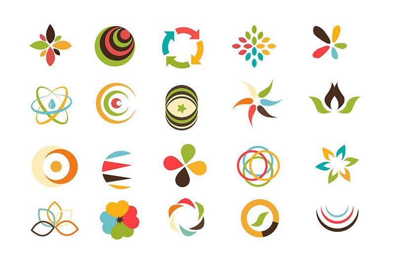 انواع لوگو لوگوی انتزاعی types of logos abstract