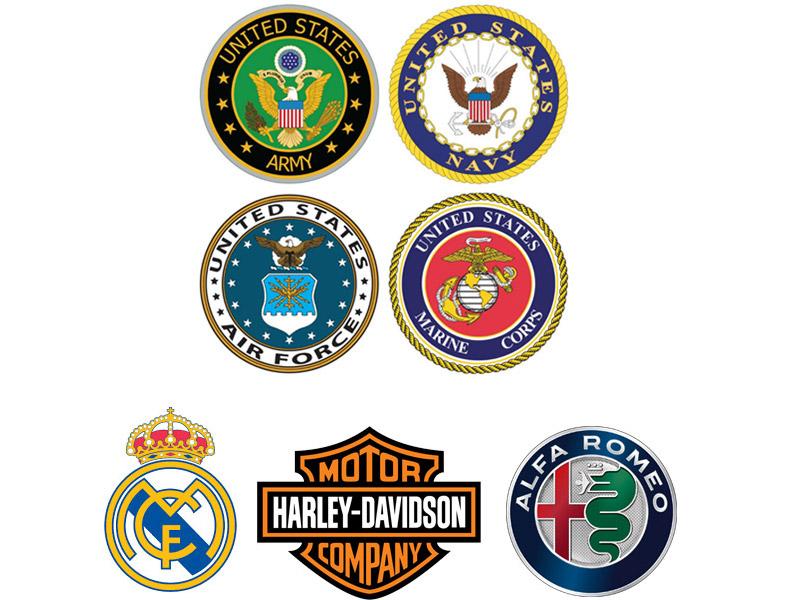 انواع لوگو لوگو سنجاق سینه Emblem logo