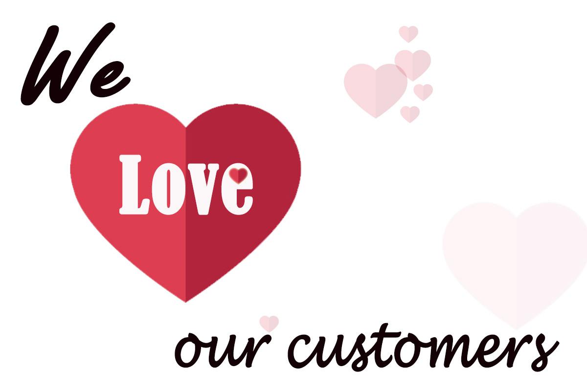 عاشق مشتریان چگونه نشان دهیم که عاشق مشتریانمان هستیم ؟ عاشق مشتری love to customers