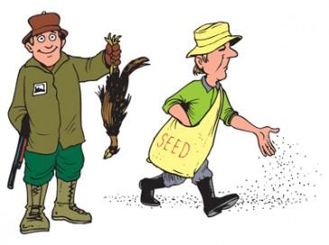 فروشنده شکارچی، فروشنده کشاورز