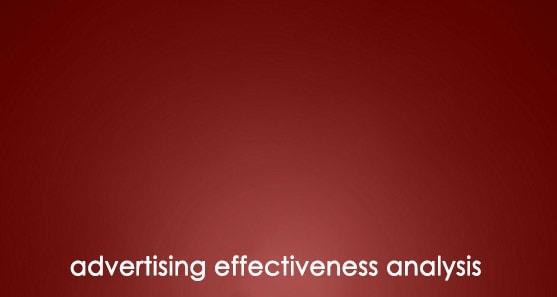 ارزیابی اثربخشی تبلیغات Advertising Effectiveness Analysis