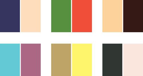 انتخاب رنگ برند اصلی کمرنگ