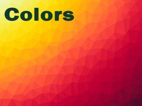 کد رنگ انواع رنگ
