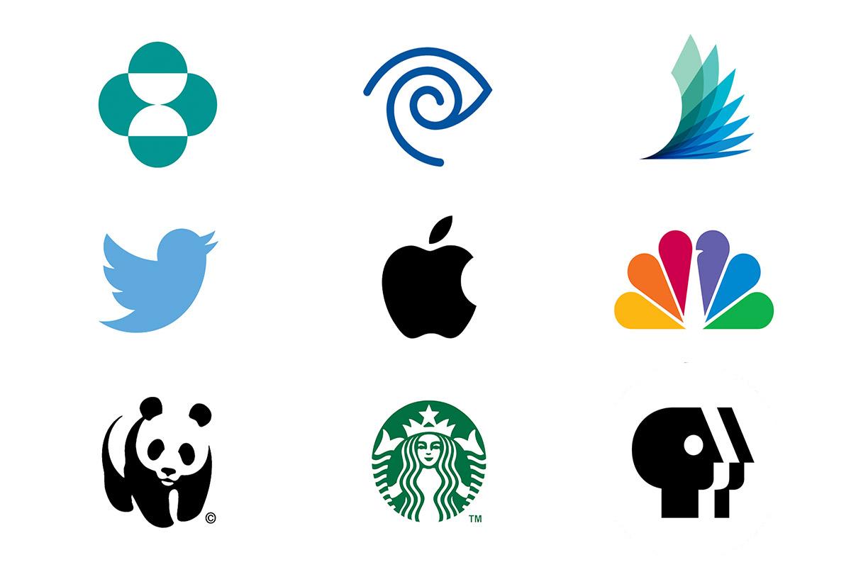 انواع لوگو حرفه ای لوگو با حرف تغییر شکل یافته