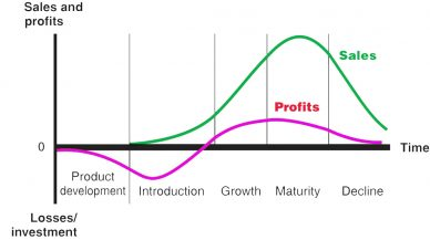 Product Life Cycle چرخه عمر محصول فروش سود