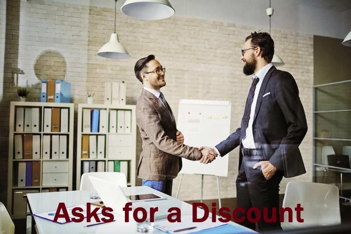 تخفیف گرفتن تخفیف گرفتن – پاسخ به درخواست تخفیف مشتری