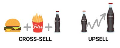 بیش فروشی Upselling فروش مکمل Cross Sell