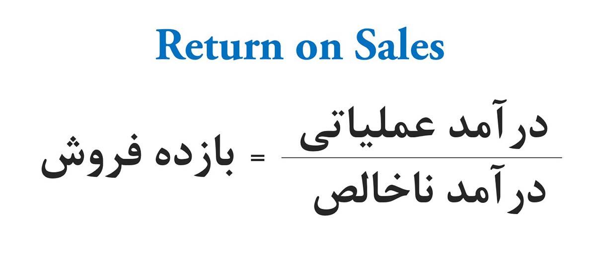 بازده فروش درآمد عملیاتی درآمد ناخالص Return On Sales